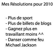 Résolutions 2010?