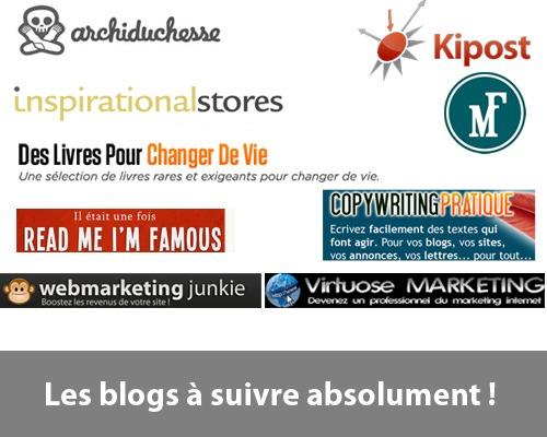 Blogs à suivre