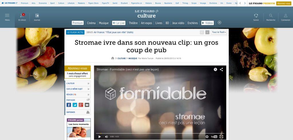 Stromae ivre dans son nouveau clip un gros coup de pub