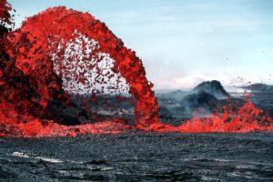 volcan éruption