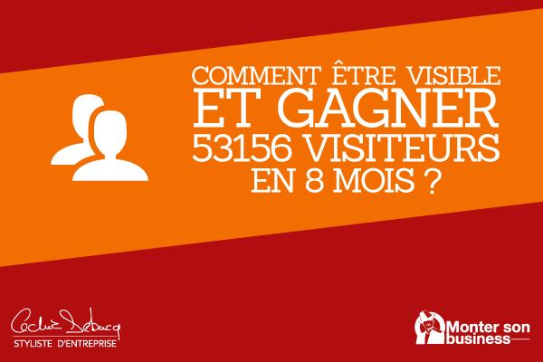 Comment être visible et gagner 53156 visiteurs en 8 mois?