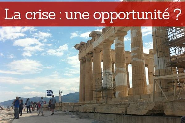 La crise : une opportunité entrepreneuriale ?