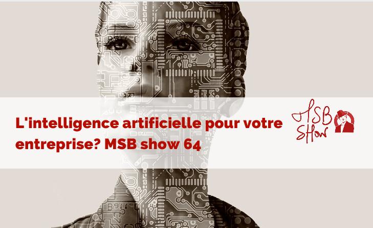 L'intelligence artificielle pour votre entreprise : MSB show 64