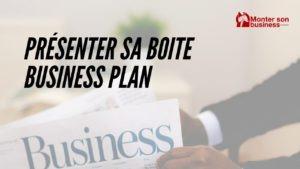 présenter entreprise business plan