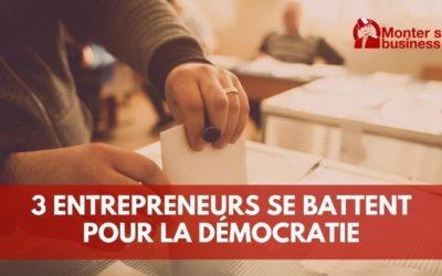 3 jeunes entrepreneurs luttent pour le droit de vote et la démocratie